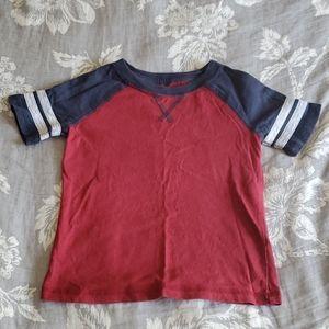 (3/$12) Maroon T shirt- size 3T